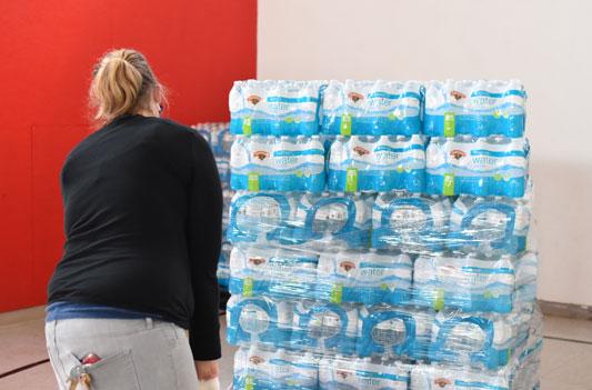Sipayik Hannaford Water Donation