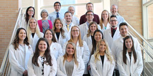 The first Rural Pharmacy Practice cohort poses with the faculty members who created the program. Photo credit: Photo credit: Sally Griffith-Oh