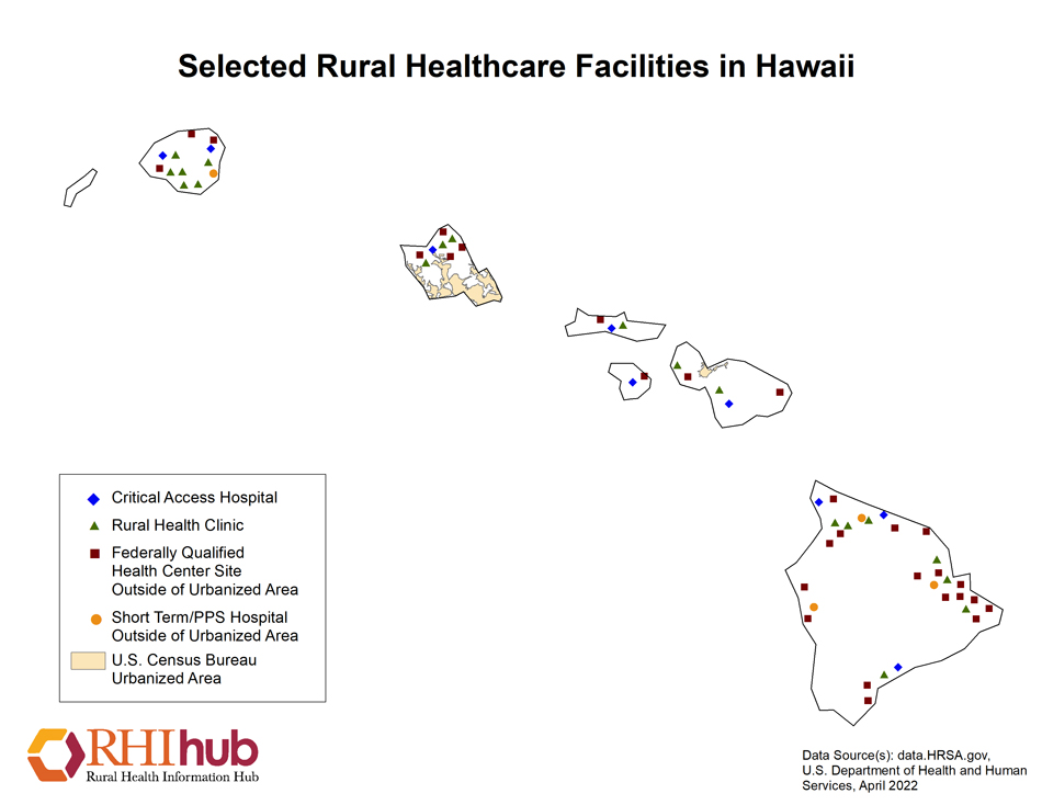 Rural health for hawaii introduction rural health information hub hawaii rural healthcare facilities map gumiabroncs Choice Image