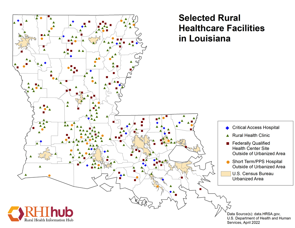 Rural health for Louisiana Introduction - Rural Health ... on michigan's map, la city map, missouri's map, indiana's map, kentucky's map, oklahoma's map, mississippi's map, nevada's map, new mexico's map, maryland's map,